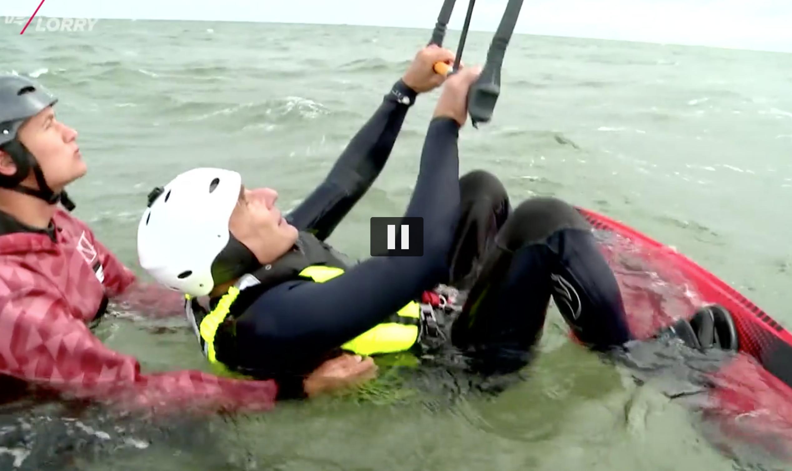 Kitesurfing med Thomas Uhrskov